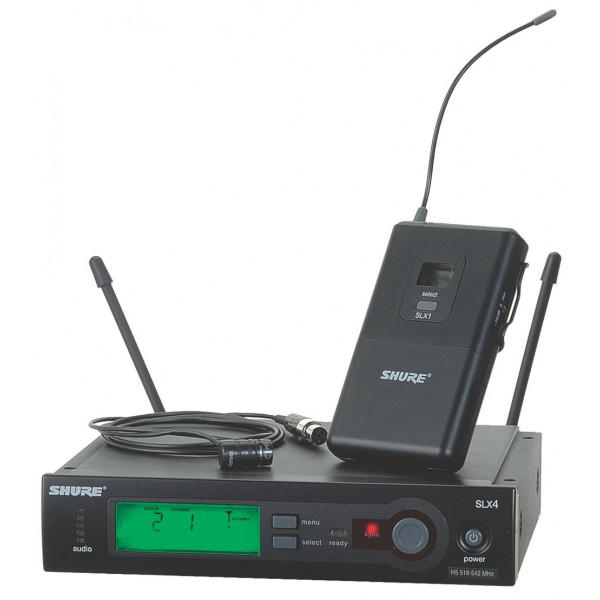 Shure SLX14/84 Wireless System with WL184 Supercardioid Lavalier Mic