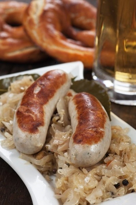 Hermann Wurst Haus Brat with Kraut