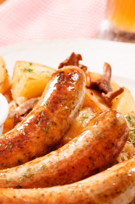Hermann wurst Haus Caramelized Pear & Gorgonzola Bratwurst