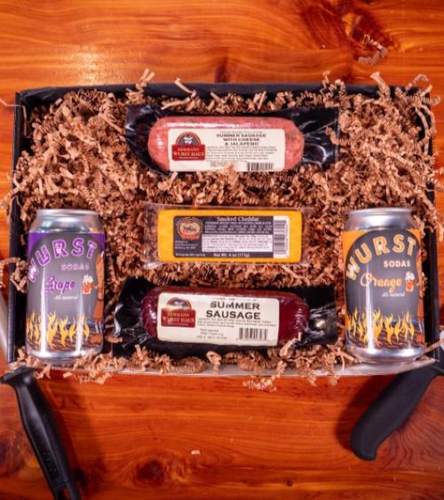 Wurst , Cheese & Soda Box