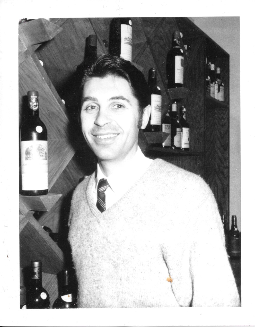 Emile Ninuad at first shop, circa 1969