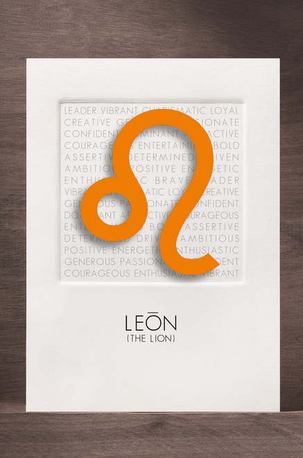 Leo card is one of 12 in the set displayed as a sample