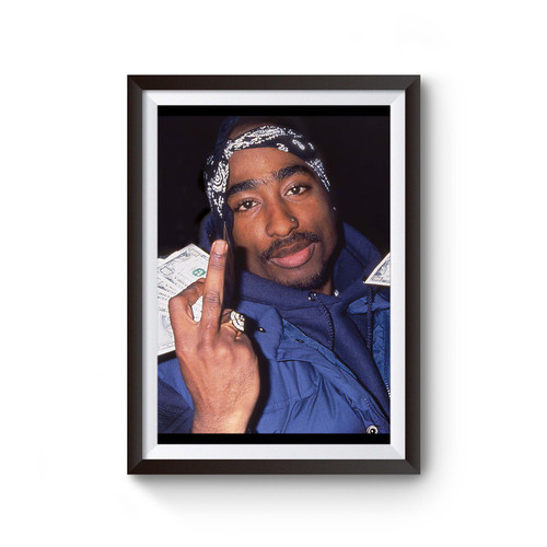 Tupac Finger Poster