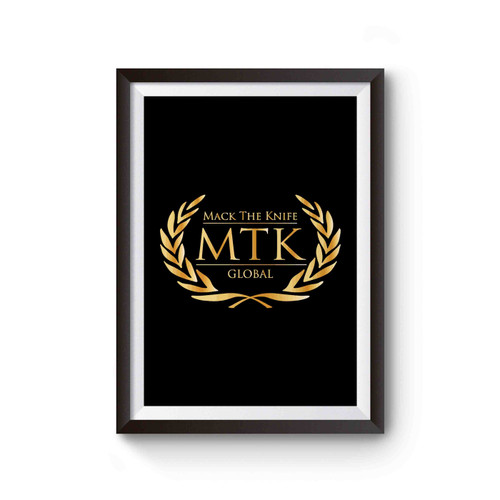 Tyson Fury Boxing Club Logo Mtk Global Cover Inspired Poster
