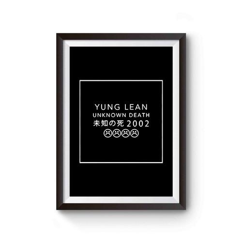 Yung Lean Unknown Death 2002 With Sad Emoji Poster