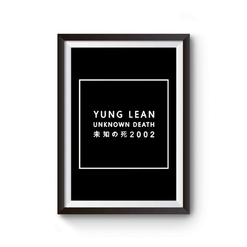 Yung Lean Unknown Death Poster