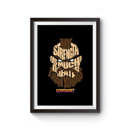Zangief Wins Typography Poster