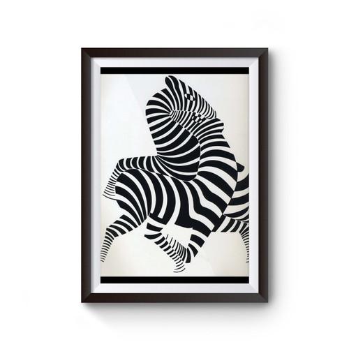 Zebra Victor Vasarely Poster