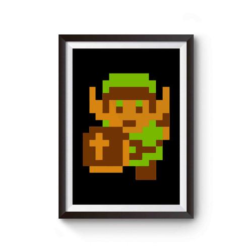 Zelda Pixel Design Poster