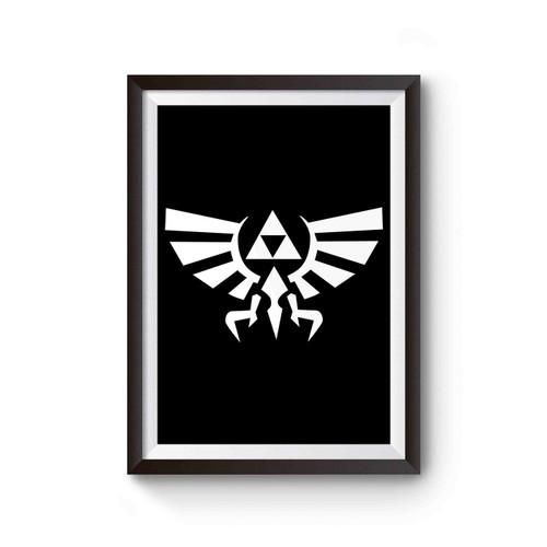 Zelda Symbol Legend Of Zelda Gamer Video Game Geek Poster