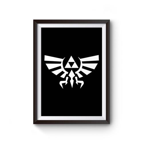 Zelda Symbol Legend Of Zelda Gamer Video Game Geek Inspired Poster