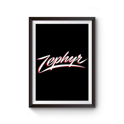 Zephyr Skate Logo Poster