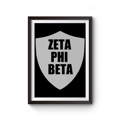 Zeta Phi Beta Crest Poster