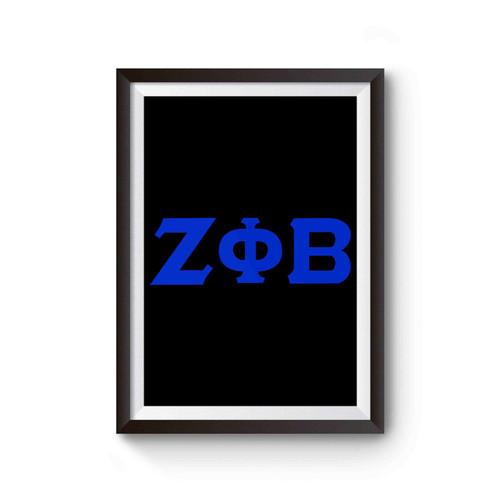 Zeta Phi Beta Zeta Greek Lettered Poster