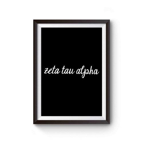 Zeta Tau Alpha Script Sorority Poster