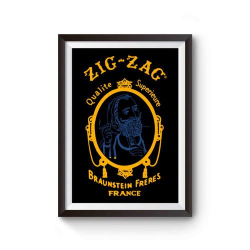 Zig Zag Braunstein Freres Logo Poster