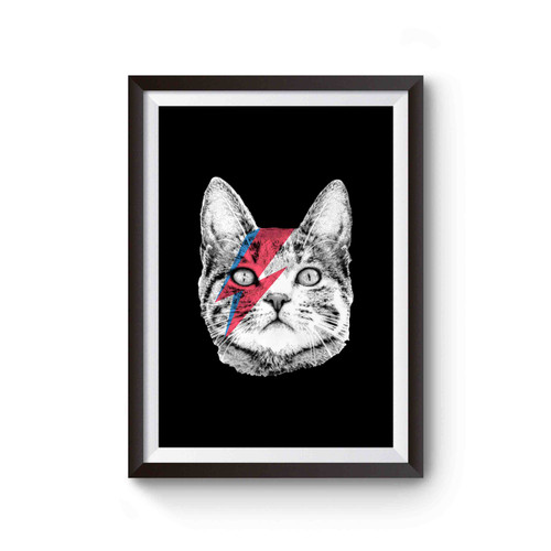 Ziggy Stardust Cat David Bowie Poster