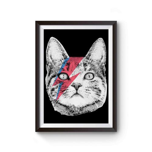 Ziggy Stardust Cat Poster