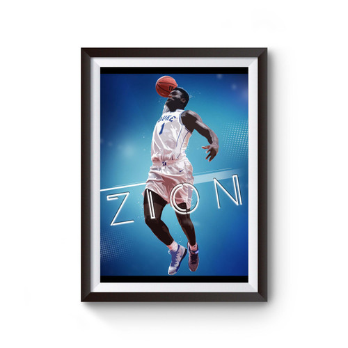 Zion Williamson Basketball Player Poster