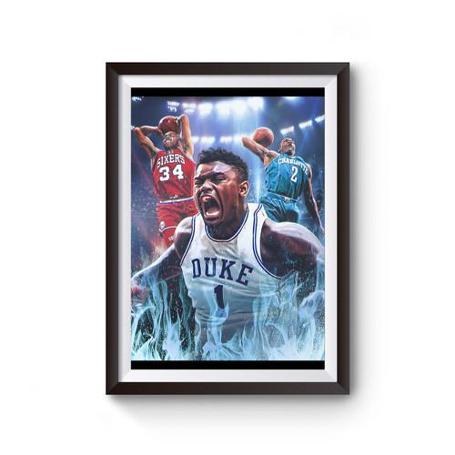Zion Williamson Duke Poster