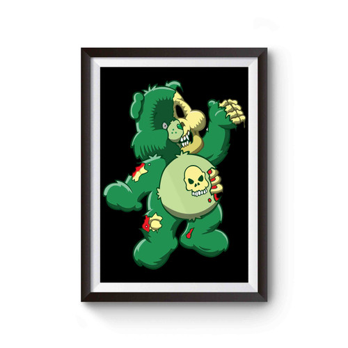 Zombie Care Bear Halloween Comedy Horror Poster