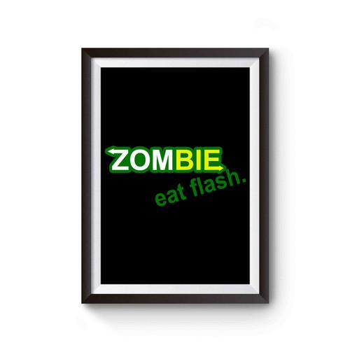 Zombie Eat Flesh The Walking Dead Subway Poster