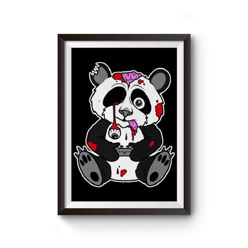 Zombie Panda Gamer Drop Geek Emo Scene Tattoo Dead Cute Poster