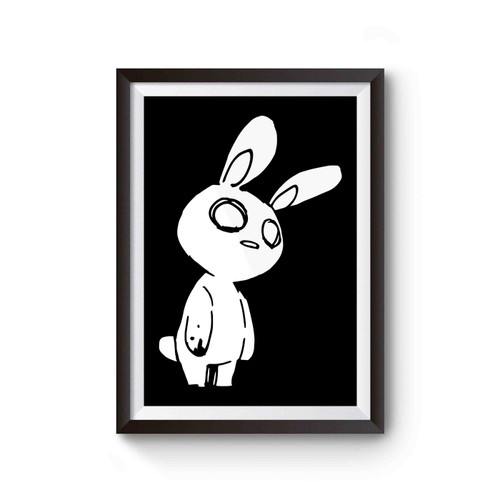 Zombie Rabbit Bunny Gothic Halloween Poster