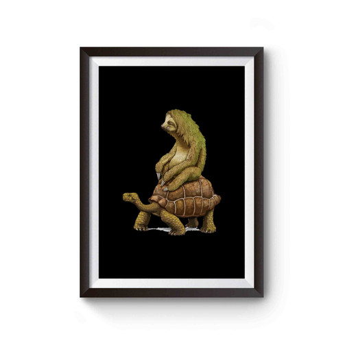 Zootopia Tortoise Sloth Design Poster