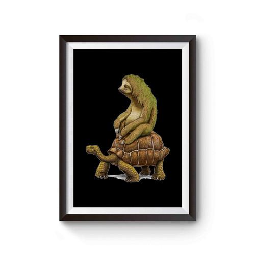 Zootopia Tortoise Sloth Funny Poster
