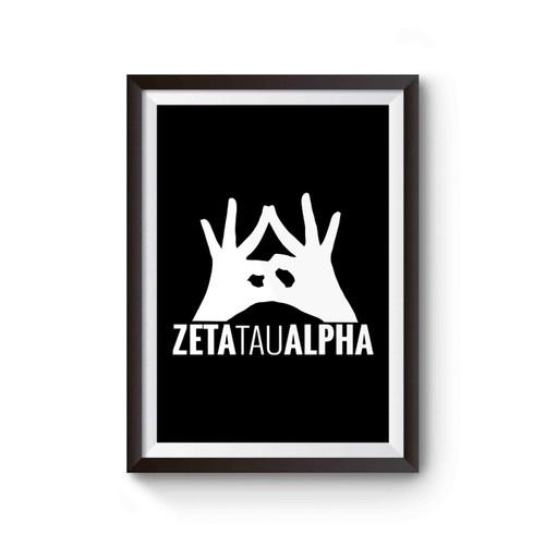 Zta Zeta Tau Alpha Sorority Poster