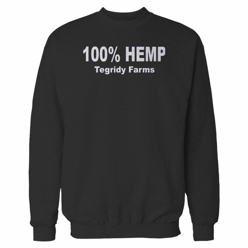 Your 100% percent hemp tegridy farms crewneck sweatshirt just got an update. This super comfortable and lighter weight crewneck will become your favorite go-to sweatshirt. The cozy spandex cuffs and waistband make this pill-resistant sweatshirt a fan favorite.And your group will look and feel their best in this premium ringspun cotton crew.