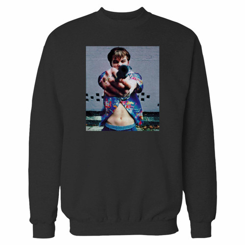 Your 1990s leonardo dicaprio romeo and juliet crewneck sweatshirt just got an update. This super comfortable and lighter weight crewneck will become your favorite go-to sweatshirt. The cozy spandex cuffs and waistband make this pill-resistant sweatshirt a fan favorite.And your group will look and feel their best in this premium ringspun cotton crew.
