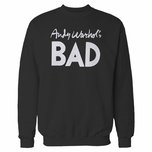 Your andy warhols bad crewneck sweatshirt just got an update. This super comfortable and lighter weight crewneck will become your favorite go-to sweatshirt. The cozy spandex cuffs and waistband make this pill-resistant sweatshirt a fan favorite.And your group will look and feel their best in this premium ringspun cotton crew.