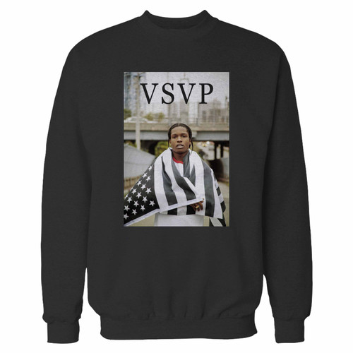 Your asap rocky wma flag crewneck sweatshirt just got an update. This super comfortable and lighter weight crewneck will become your favorite go-to sweatshirt. The cozy spandex cuffs and waistband make this pill-resistant sweatshirt a fan favorite.And your group will look and feel their best in this premium ringspun cotton crew.