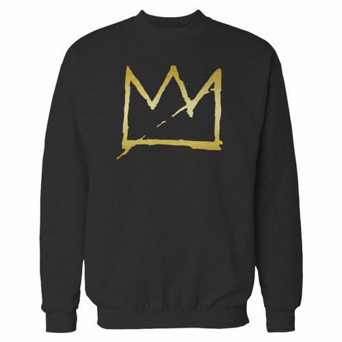 Your basquiat crown jean michel crewneck sweatshirt just got an update. This super comfortable and lighter weight crewneck will become your favorite go-to sweatshirt. The cozy spandex cuffs and waistband make this pill-resistant sweatshirt a fan favorite.And your group will look and feel their best in this premium ringspun cotton crew.