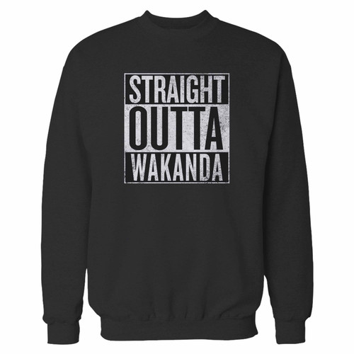 Your black panther straight outta wakanda crewneck sweatshirt just got an update. This super comfortable and lighter weight crewneck will become your favorite go-to sweatshirt. The cozy spandex cuffs and waistband make this pill-resistant sweatshirt a fan favorite.And your group will look and feel their best in this premium ringspun cotton crew.