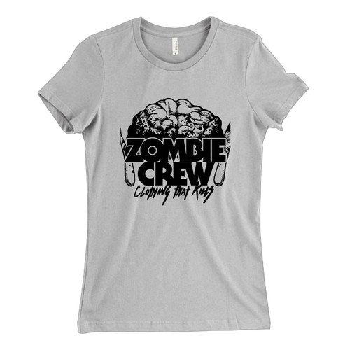 These are Zombie Crew Brain Clothing Women T Shirt that are cute tied to the side or paired with a cardigan or jacket for a more styled look. So comfy and classic, they are sure to make your vacation extra magical.