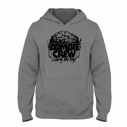 Was created with comfort in mind, this Zombie Crew Brain Clothing Hoodie lighter weight is perfect for any activity. Teams and groups love this hoodie for its affordable price and variety of colors.