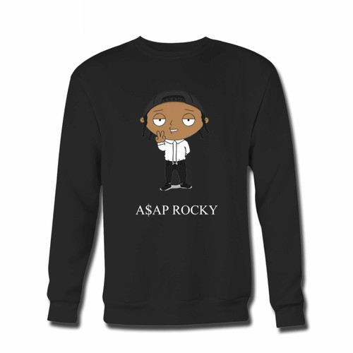 Your Asap Rocky In Funny Cartoon Crewneck Sweatshirt just got an update. This super comfortable and lighter weight crewneck will become your favorite go-to sweatshirt. The cozy spandex cuffs and waistband make this pill-resistant sweatshirt a fan favorite.And your group will look and feel their best in this premium ringspun cotton crew.