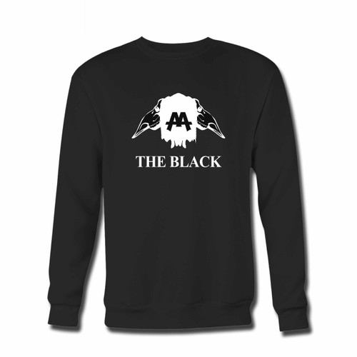Your Asking Alexandria The Black Aa Twin Crewneck Sweatshirt just got an update. This super comfortable and lighter weight crewneck will become your favorite go-to sweatshirt. The cozy spandex cuffs and waistband make this pill-resistant sweatshirt a fan favorite.And your group will look and feel their best in this premium ringspun cotton crew.