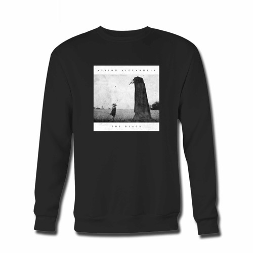 Your Asking Alexandria The Black Album Cover Crewneck Sweatshirt just got an update. This super comfortable and lighter weight crewneck will become your favorite go-to sweatshirt. The cozy spandex cuffs and waistband make this pill-resistant sweatshirt a fan favorite.And your group will look and feel their best in this premium ringspun cotton crew.