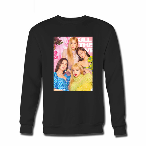 Your Blackpink Kill This Love Hot Inspired Crewneck Sweatshirt just got an update. This super comfortable and lighter weight crewneck will become your favorite go-to sweatshirt. The cozy spandex cuffs and waistband make this pill-resistant sweatshirt a fan favorite.And your group will look and feel their best in this premium ringspun cotton crew.