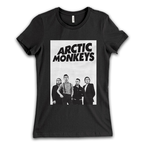 These are Arctic Monkeys Group Photos Women T Shirt that are cute tied to the side or paired with a cardigan or jacket for a more styled look. So comfy and classic, they are sure to make your vacation extra magical.