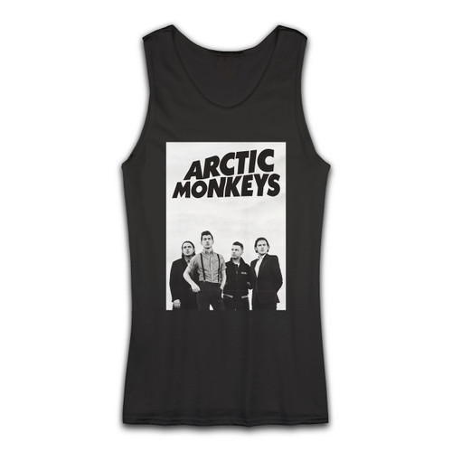 High quality print of this slim fit Arctic Monkeys Group Photos Women Tank Top will turn heads. And bystanders won't be disappointed - the racerback cut looks good one any woman's shoulders.