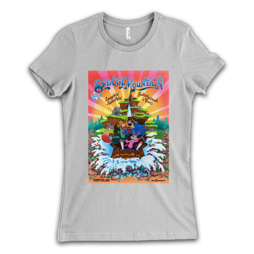 These are Splash Mountain Disneyland Park Vintage Poster Women T Shirt that are cute tied to the side or paired with a cardigan or jacket for a more styled look. So comfy and classic, they are sure to make your vacation extra magical.