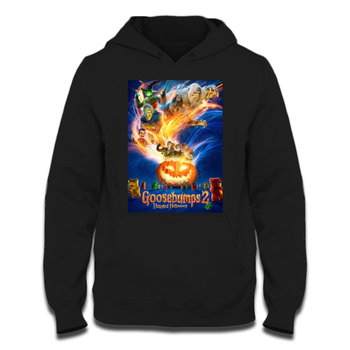 Was created with comfort in mind, this Goosebumps 2 Haunted Halloween Cover Hoodie lighter weight is perfect for any activity. Teams and groups love this hoodie for its affordable price and variety of colors.