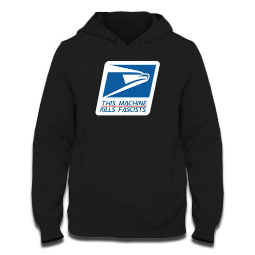Was created with comfort in mind, this USPS Stop Fascists Kill Fascists Hoodie lighter weight is perfect for any activity. Teams and groups love this hoodie for its affordable price and variety of colors.