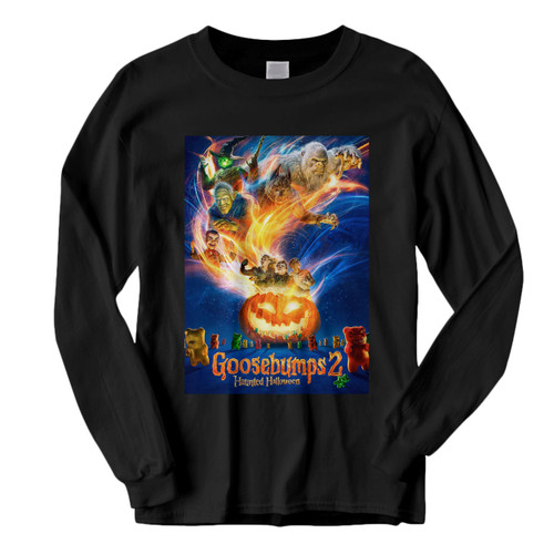 This classic fit Goosebumps 2 Haunted Halloween Cover Long Sleeve Shirt is casually elegant and very comfortable. With fine quality print to make one stand out, it's a perfect fit for every occasion.