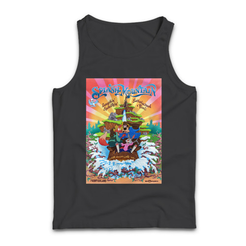 Our cotton Splash Mountain Disneyland Park Vintage Poster Men Tank Top is perfect for those intense workouts in the gym, at practice or pickup games.